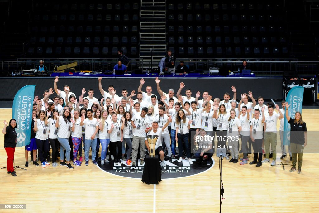 OneTeam people during the 2018 Turkish Airlines EuroLeague F4 One Team Welcome Session for Volunteers at Aleksandar Nikolic Hall on May 16, 2018 in Belgrade, Serbia.