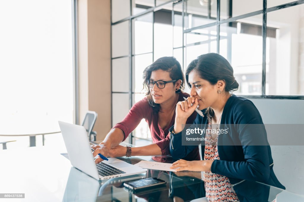 One-to-one business meeting : Stock Photo