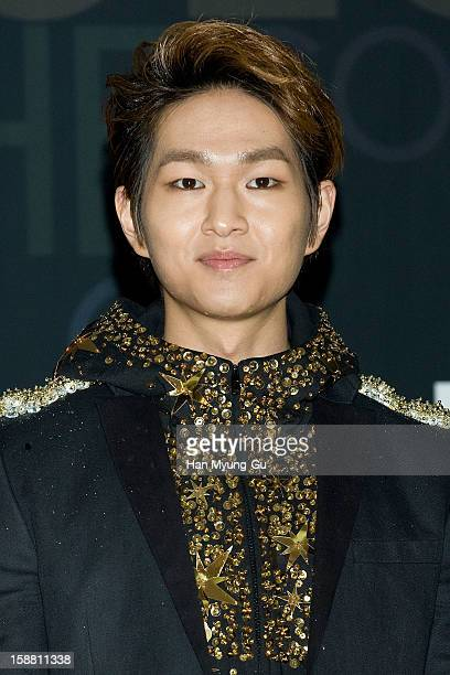 Onew of South Korean boy band SHINee arrives at the 2012 SBS Korea Pop Music Festival named 'The Color Of KPop' at Korea University on December 29...