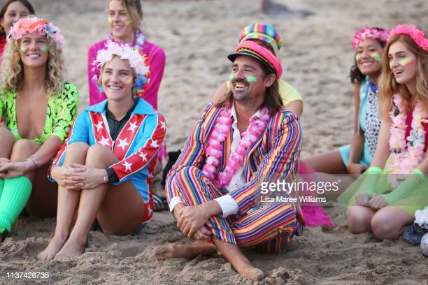 OneWave founder Grant Trebilco attends celebrations at sunrise on Bondi Beach on March 22 2019 in Sydney Australia Surfers gather to celebrate five...