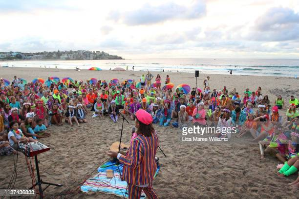 OneWave founder Grant Trebilco speaks at Bondi Beach on March 22 2019 in Sydney Australia Surfers gather to celebrate five years of OneWave a not for...