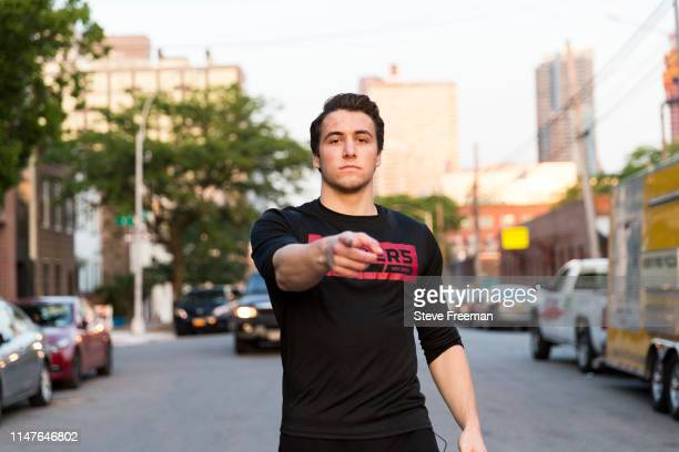 OneWildWalnut of Blazer5 Gaming poses for a portrait during Week 7 of the NBA 2K League on May 31 2019 at the NBA 2K Studio in Long Island City New...