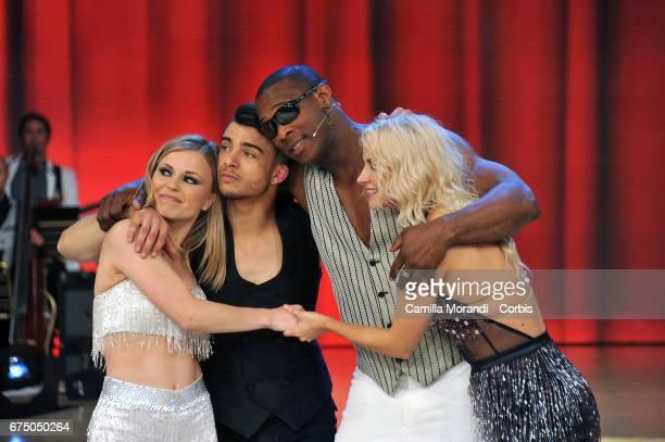 Oney Tapia Veera Kinnunen Fabio Basile and Anastasia Kuzmina attend Ballando Con Le Stelle tv show on April 29 2017 in Rome Italy