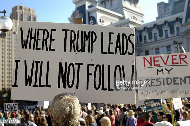 Ongoing Anti-Trump Protests in Philadelphia, Pennsyvlania