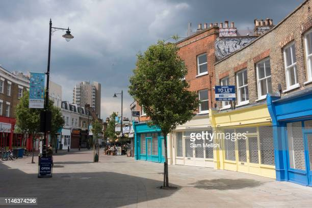 Ongoing Network Rail renovations cause local shops to remain empty at Herne Hill on the 20th May 2019 in London in the United Kingdom