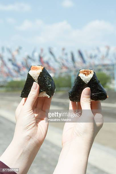 onigiri - rice ball stock pictures, royalty-free photos & images