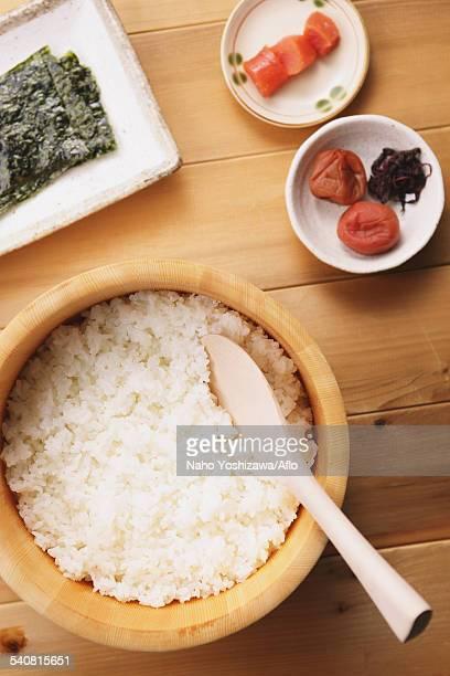 Onigiri rice balls ingredients