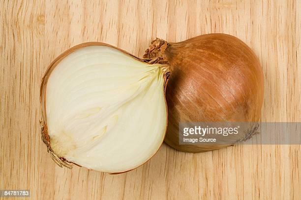 Onion cut in half