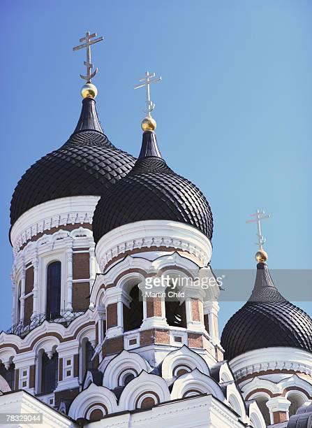 Onion Domes on Alexander Nevsky Cathedral in Tallinn, Estonia