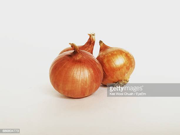 Onions Against White Background