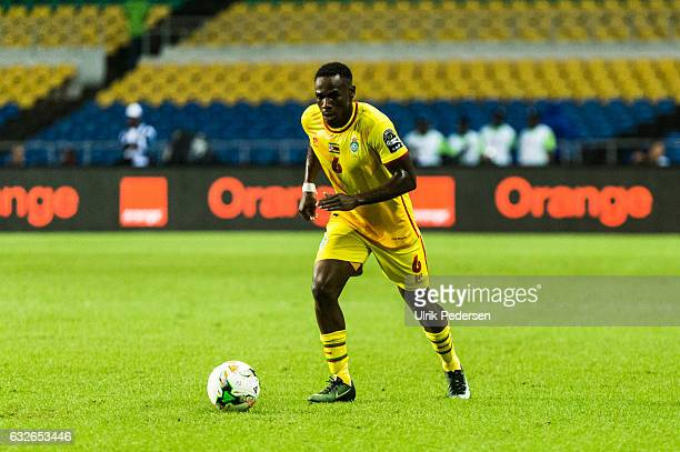 Onismor Bhasera of Zimbabwe during the African Nations Cup match between Zimbabwe and Tunisia on January 23 2017 in Libreville Gabon