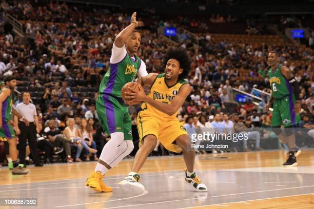TORONTO ONJamario Moon of the Three Headed Monsters plays defence against Josh Childress of the Ball Hogs BIG3 is a pro 3on3 basketball league...