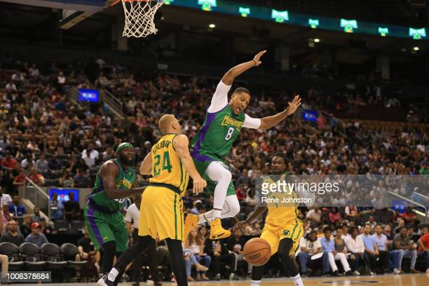 TORONTO ONJamrio Moon of the Three Headed Monsters gets big while Brian Scalabrine of the Ball Hogs forces the block BIG3 is a pro 3on3 basketball...