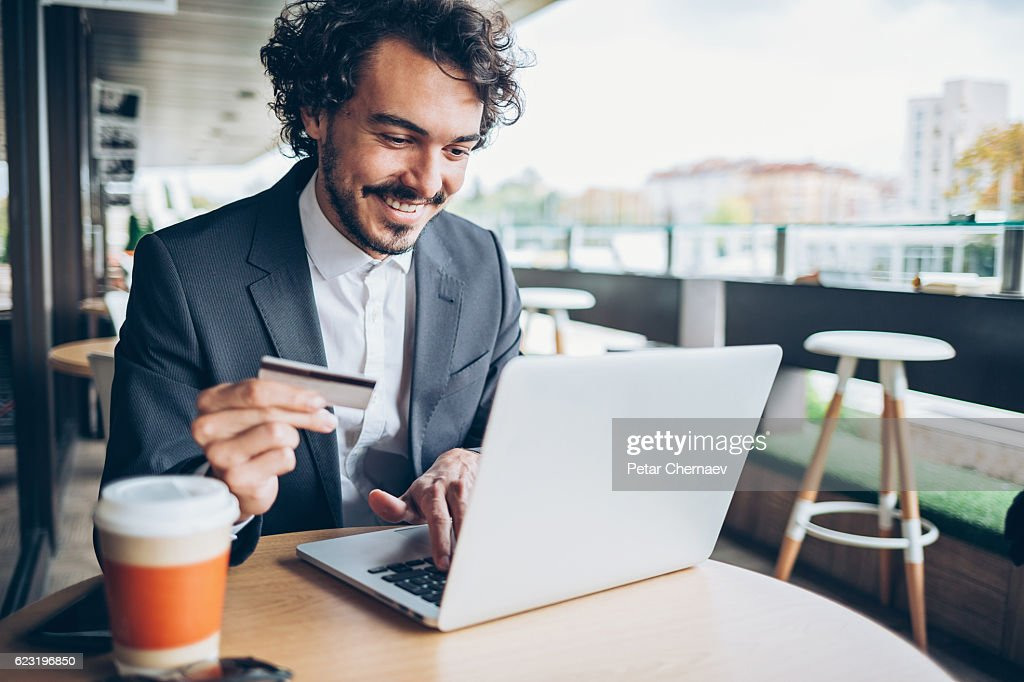On-line banking : Stock Photo