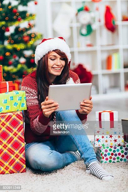 Navidad de compras en línea
