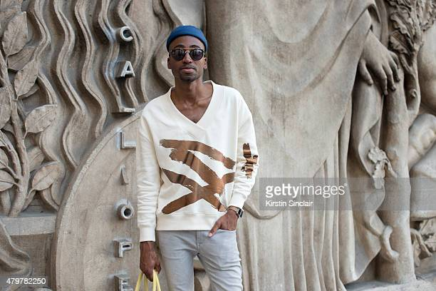 Online Contributing Editor for LâOfficiel Hommes Netherlands Richenny Ryfa Felicia wears Carin Webster sweater River Island jeans Beton Ciré hat EE...