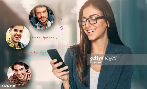 online dating - contacts stock photos and pictures