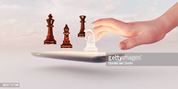 Online gaming conceptual image of chess phone app
