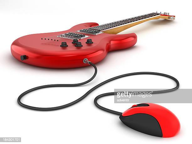 online guitar lessons - metal music stock photos and pictures