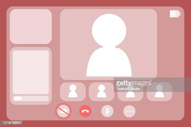 online meeting concept, - hud interfaccia grafica utente foto e immagini stock