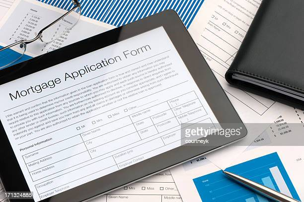 online mortgage application form - mortgage stock pictures, royalty-free photos & images