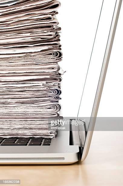 Konzept des online-Neuigkeiten