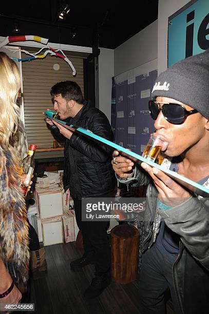 Online personality Zane Hijazi and Shaka Smith attend Kari Feinstein's Style Lounge presented by Aruba on January 25 2015 in Park City Utah