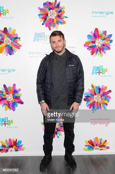 Online personality Zane Hijazi attends Kari Feinstein's Style Lounge presented by Aruba on January 25 2015 in Park City Utah