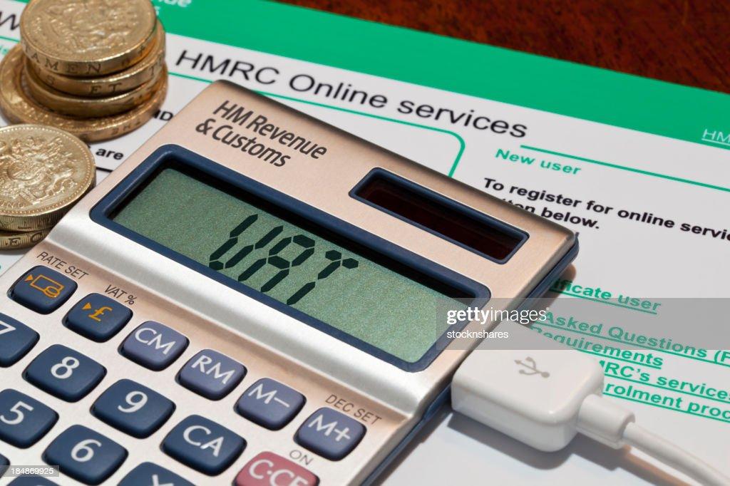 UK VAT Online : Stock Photo