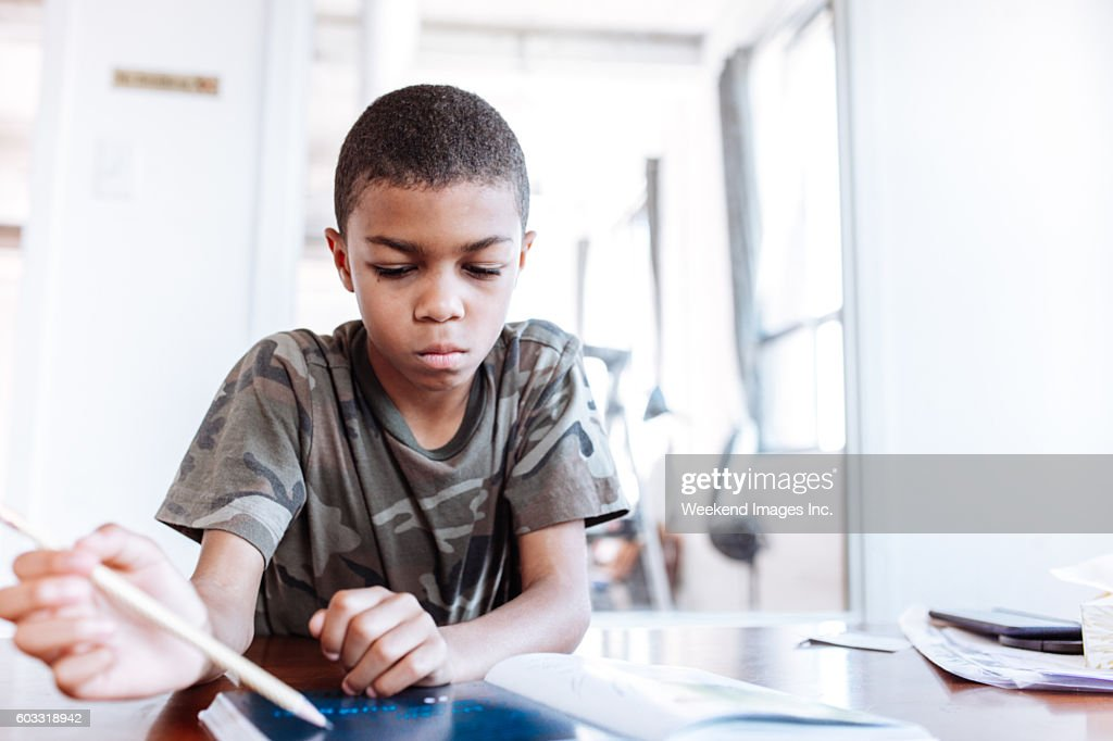 Online project for elementary students : Stock Photo