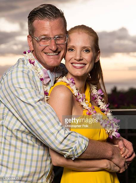 E Online reporter Marc Malkin and Jessica Chastain 2013 Maui Film Festival at Wailea Nova Award recipient attend the 2013 Maui Film Festival at...