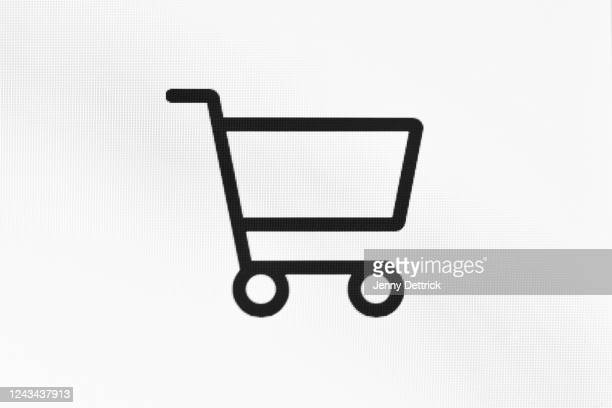 online shopping cart - shopping cart stock pictures, royalty-free photos & images