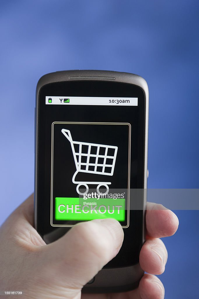 On-Line Shopping - Checkout : Stock Photo