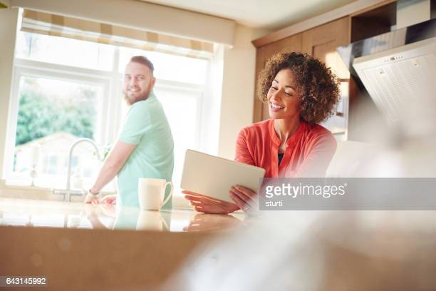 online shopping - role reversal stock photos and pictures