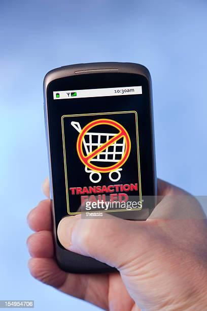 on-line de compras da transacção falhou - theasis imagens e fotografias de stock