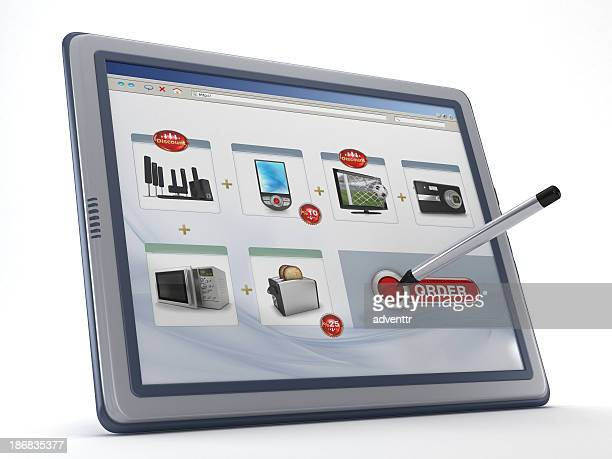 Online-shopping mit tablet PC