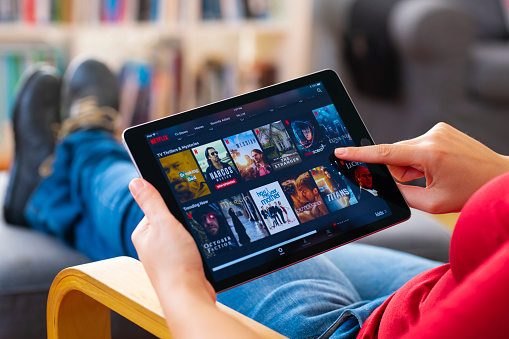 Online streaming with tablet pc 1208363215