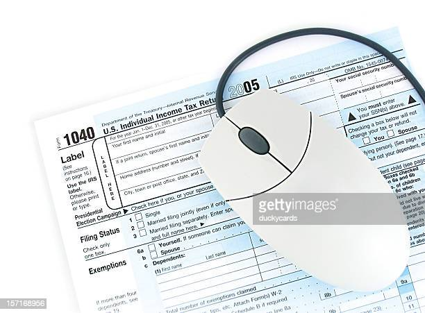 taxa de registro on-line - 1040 tax form - fotografias e filmes do acervo
