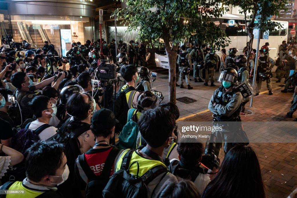 Hong Kong Marks 23 Years After Its Handover To China : Nieuwsfoto's