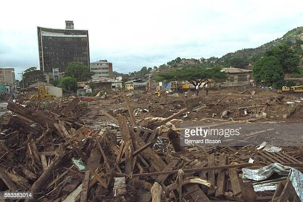 Only buildings in permanent materials withstood the hurricane