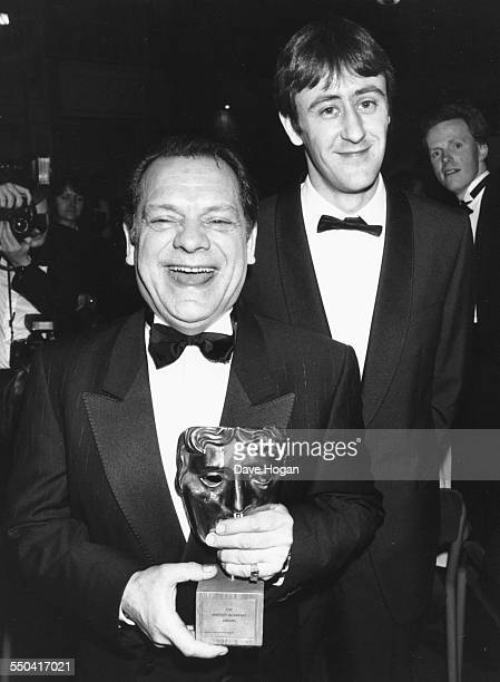 'Only Fools and Horses' actors David Jason and Nicholas Lyndhurst at the BAFTA Awards where their show won an award London March 21st 1989
