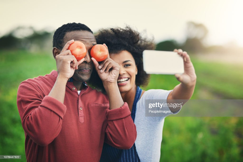 I only have eyes for organic foods : Stock Photo