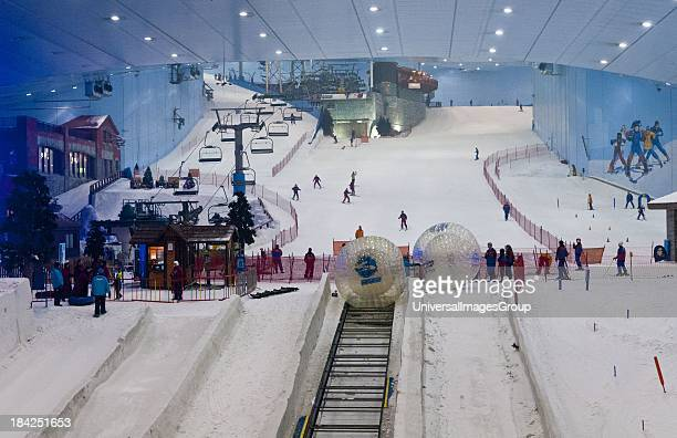 Only indoor ski slope resort in the world at the Mall of the Emirates in Dubai in the UAE in thriving UAE United Arab Emirates