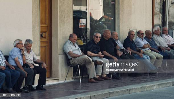only men in the streets, Sicilian society