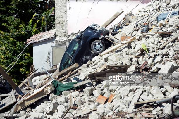 Only rubble remains of the town after the earthquake in Pescara del Tronto, Italy, 26 August 2016. A strong earthquake claimed numerous lives in...
