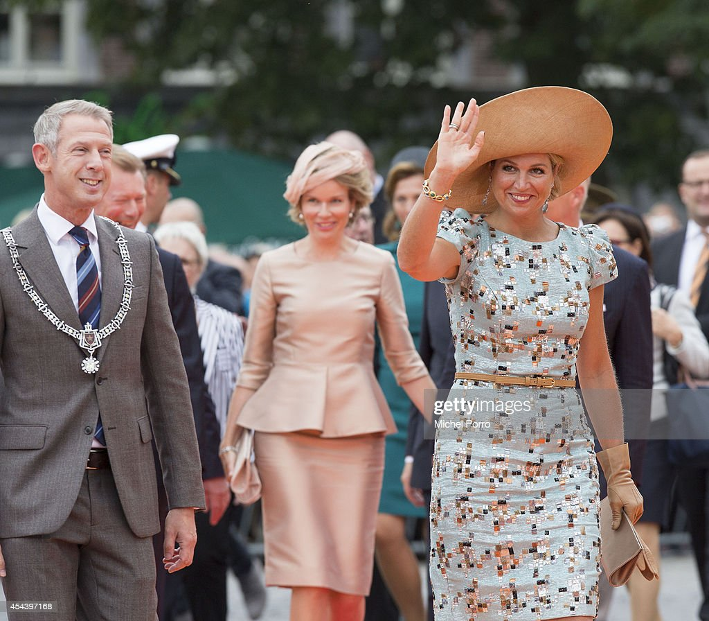 Onno Hoes and Queen Maxima of The Netherlands attend celebrations marking the 200th anniversary of the kingdom of The Netherlands on August 30, 2014 in Maastricht, The Netherlands.