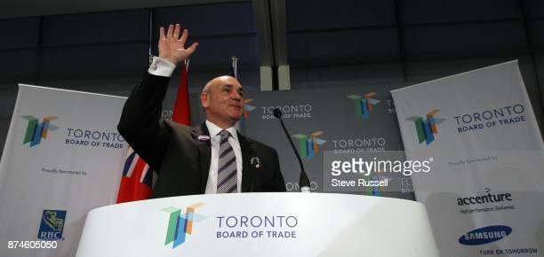 October 15 2010 Mayoral candidate George Smitherman speaks to the Toronto Board of Trade in Toronto Smitherman also scored another high profile...