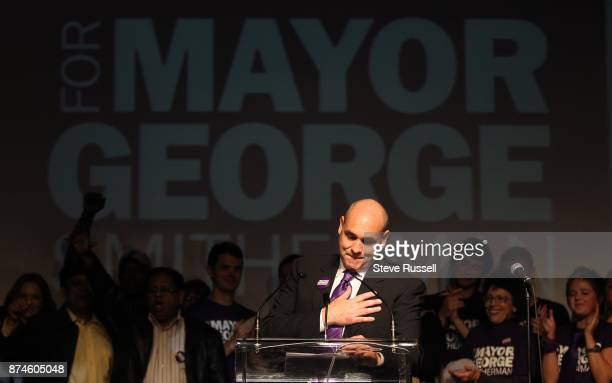 October 25 2010 George Smitherman delivers his concession speech after losing the Toronto Mayoral election at his party at The Guvernment in Toronto
