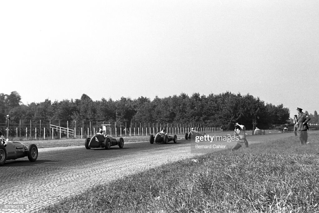 Onofre Marimon, Nino Farina, Juan Manuel Fangio, Alberto Ascari, Grand Prix Of Italy : News Photo