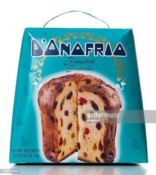 scatola d'onofrio torta di frutta - panettone foto e immagini stock